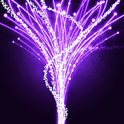 Violet Art Digital Art Prints - Abstract Of Fiber Optic Print by Setsiri Silapasuwanchai