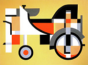 Ampersand Posters - Abstract Tractor Poster by Donna Wiegand