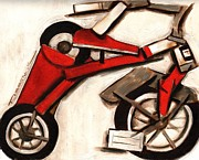Tricycle Framed Prints - Abstract Tricycle Framed Print by Tommervik