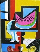 Abstract Watermelon Print by Nicholas Martori
