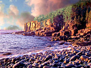 National Parks Paintings - Acadia National Park by Nadine and Bob Johnston