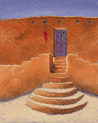 Adobe Posters - Acoma Steps Poster by Jerry McElroy