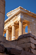 Greek Icon Posters - Acropolis Temple Poster by Brian Jannsen