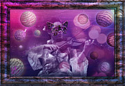Violin Digital Art - Adagio Rebirthing by Rosa Cobos