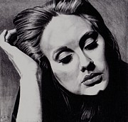 Adele Drawings - Adele by Kohdai Kitano