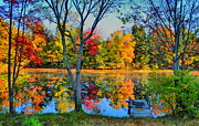 Fall Photos - Adirondack Calm by Emily Stauring