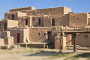 Taos Prints - Adobe Buildings of Taos Print by Bryan Mullennix