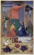 French Handwriting Prints - Adoration Of Magi Print by Granger