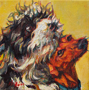 Dog Portrait Originals - Adoration Of The Maji by Patricia A Griffin