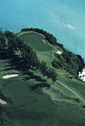 Golf Courses Prints - Aerial Of A Golf Course In Bermuda Print by Kenneth Garrett