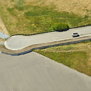 Asphalt Photos - Aerial View of a Cul-de-sac by Eddy Joaquim