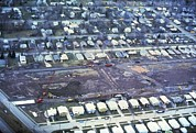 Contaminated Art - Aerial View Of Clean Up Operations by Everett