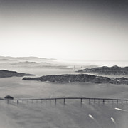 Foggy Day Prints - Aerial View of San Francisco Bay Print by Eddy Joaquim