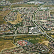 In Depth Framed Prints - Aerial View of Suburban Tract Housing Framed Print by Eddy Joaquim