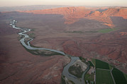 Plateaus Prints - Aerial View Of The Colorado River Print by Pete Mcbride