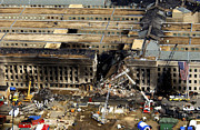 September 11 2001 Metal Prints - Aerial View Of The Terrorist Attack Metal Print by Stocktrek Images