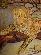 Hand Reliefs - African Leopard by Gil Watson