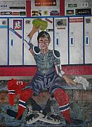 Hockey Mixed Media - After The Game by Bob Craig