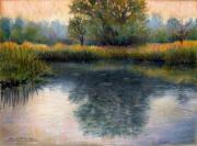 River Pastels Posters - After the Rain Poster by Susan Jenkins