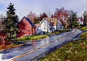 Barns Paintings - After the rain by Tony Van Hasselt