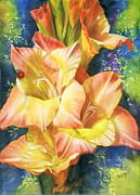 Gladiola Paintings - Afternoon by Barbara Keith