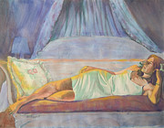 Afternoon Mixed Media Originals - Afternoon Repose by Becky Chappell