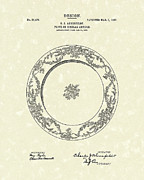 Antique Drawings - Ahrenfeldt Plate Design 1907 Patent Art by Prior Art Design