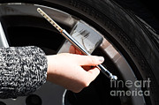 Mechanics Prints - Air Pressure Gauge Print by Photo Researchers