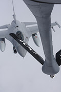 Mechanism Photo Prints - Air Refueling A Norwegian Air Force Print by Daniel Karlsson