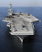 Carrier Posters - Aircraft Carrier Uss Carl Vinson Poster by Stocktrek Images