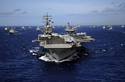 Uss Ronald Reagan Prints - Aircraft Carrier Uss Ronald Reagan Print by Stocktrek Images