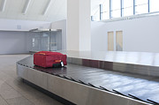 Conveyor Framed Prints - Airport Baggage Claim Framed Print by Jaak Nilson
