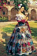Figure Framed Prints - Al Aire Libre Framed Print by Jean Hildebrant
