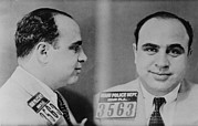 Mug Shot Prints - Al Capone 1899-1847, Prohibition Era Print by Everett