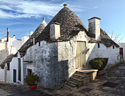 Unique View Framed Prints - Alberobello Street View Framed Print by Gualtiero Boffi