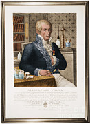 Umberto Metal Prints - Alessandro Volta, Italian Physicist Metal Print by Omikron
