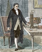 Reliable Framed Prints - Alessandro Volta, Italian Physicist Framed Print by Sheila Terry
