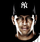Yankees Digital Art Prints - Alex Rodriguez by GBS Print by Anibal Diaz