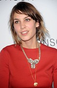 Chelsea Prints - Alexa Chung At Arrivals For The Print by Everett