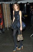 Pouf Skirt Prints - Alexa Chung Wearing A Katy Rodriguez Print by Everett