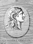 Statue Portrait Prints - Alexander The Great (356-323 B.c.) Print by Granger