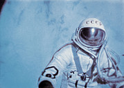 Alexei Prints - Alexei Leonov, First Space Walk, 1965 Print by Ria Novosti