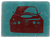 Old Digital Art Metal Prints - Alfa Romeo GTV Metal Print by Irina  March