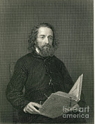 Alfred Posters - Alfred, Lord Tennyson, English Poet Poster by Photo Researchers