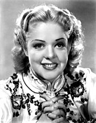 Mandarin Collar Framed Prints - Alice Faye, Ca. Late 1930s Framed Print by Everett