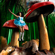 Toadstools Metal Prints - Alice in Wonderland Metal Print by Oleksiy Maksymenko