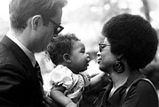 Candid Family Portraits Posters - Alice Walker With Her Daughter Poster by Everett
