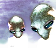Alien Eyes Photos - Alien Heads by Victor Habbick Visions