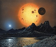 Red Giant Photos - Alien Landscape, Artwork by Richard Bizley