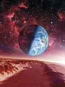 Extrasolar Planet Photos - Alien Planet, Artwork by Detlev Van Ravenswaay